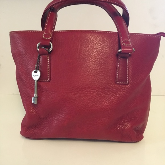 Fossil Handbags - Fossil red tote bag.